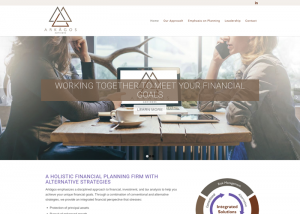 Arkagos Advisors Website Design