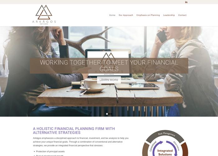Arkagos Advisors Website Design