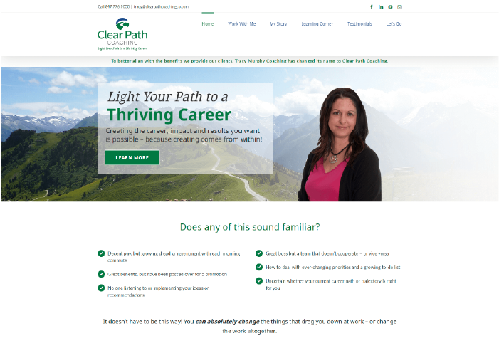 Clear Path Coaching Website Design