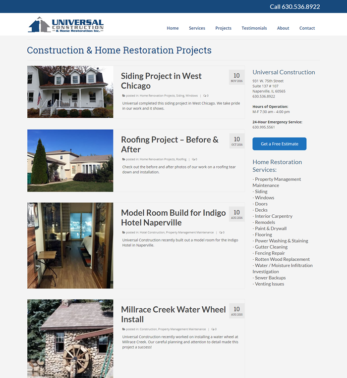 Universal Construction & Home Restoration