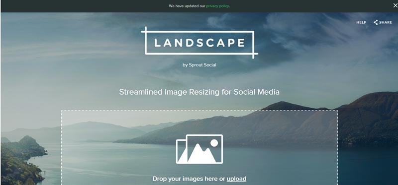 Landscape Social Media Image Size Tool